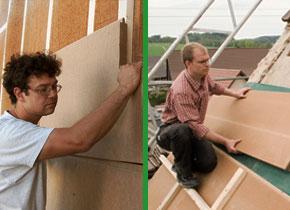 weichfaserplatte holzfaserplatte unter der dachdeckung. Black Bedroom Furniture Sets. Home Design Ideas