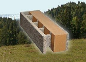 holzbeton mauerstein f r hausbau und l rmschutzwand. Black Bedroom Furniture Sets. Home Design Ideas