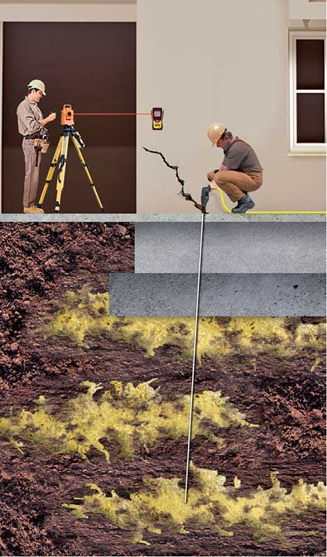 Gut gemocht Fundament-Sanierung bei Gebäudesetzungen durch Hebung der Bodenplatte XP63