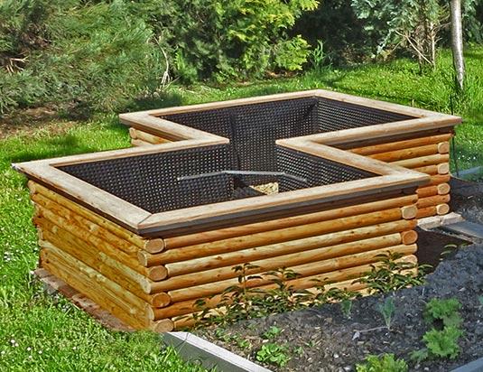 hochbeet bausatz zum selber bauen ennstaler rundholz. Black Bedroom Furniture Sets. Home Design Ideas