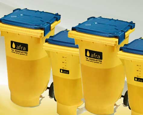 Fettbox - Altspeisefett-Sammlung, Rohstoff für Biodiesel