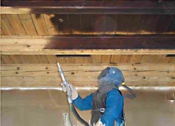 Holzdecke Sanieren keller sanierung durch mobiles sandstrahlen