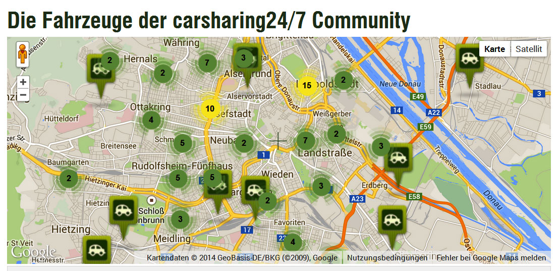 privates Carsharing Standorte